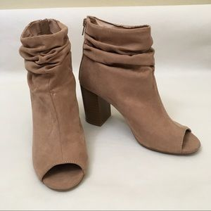 Chinese Laundry Peep Toe Faux Suede Ankle Booties